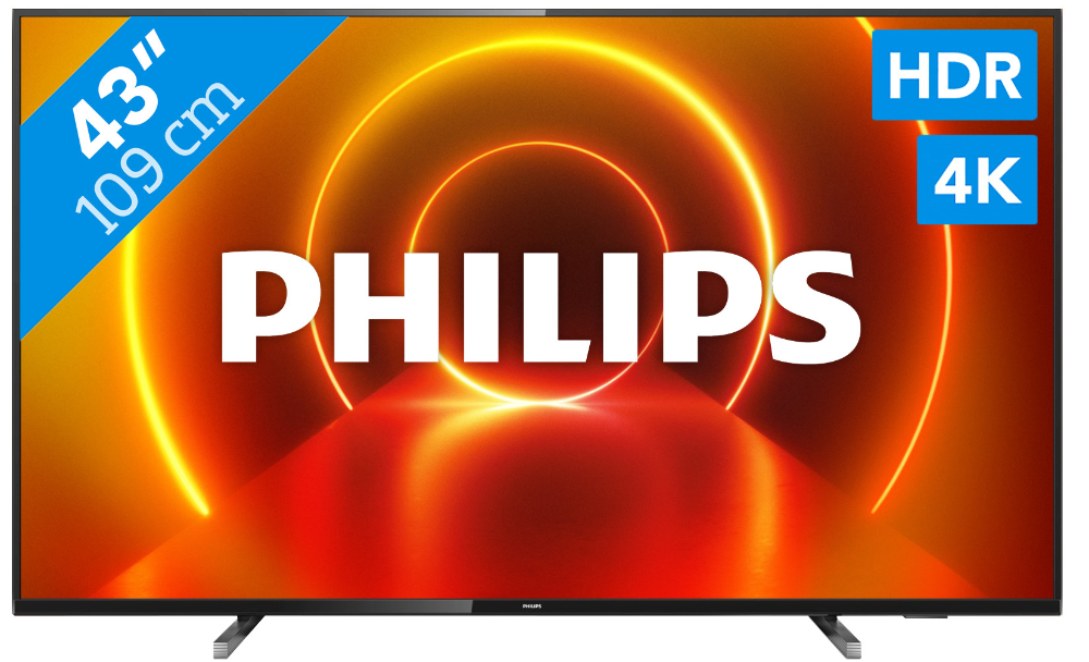 beste koop led tv philips 43pus7805